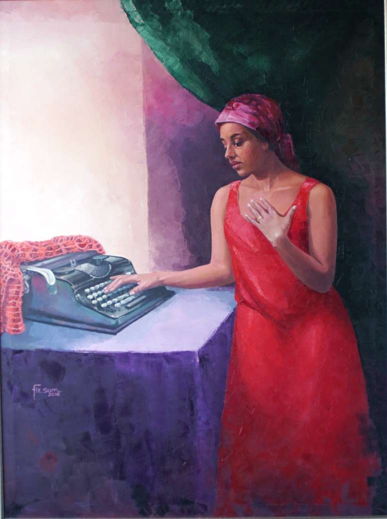 Love letter memories: Oil on Canvas A Painting by Fitsum Wubeshet